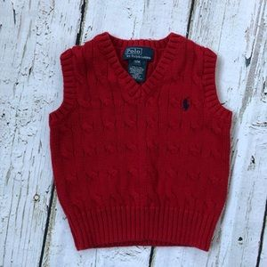 Polo by Ralph Lauren 12M Red Knit Vest